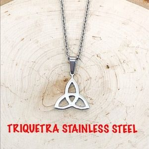 UNISEX NWT CELTIC TRIQUETRA STAINLESS STEEL